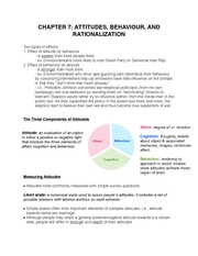 Chapter 7-Attitudes, Behaviour, and Rationalization