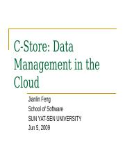 C-Store cloud.ppt