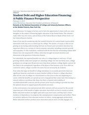 Student Debt and Higher Education Funding (1)