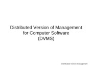 Distributed-Version-Management