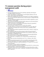 72 common question during project management audit.doc
