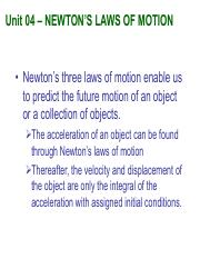 Notes04_Newton's Laws of Motion