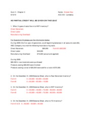 Quiz - Forms A&B - Answer Key - Fall 2010