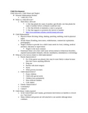 Child Advocacy Notes