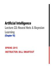 AI Spring 2015 Lecture 22