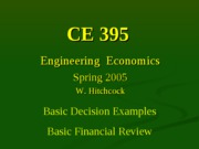 Lecture 3 - Basic Financial Review