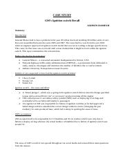 Case study - GM ignition switch.docx