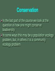 24 Conservation strategies