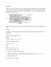 Problem Example Conservation of Momentum