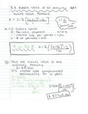 Notes on Chapter 8 Annuity