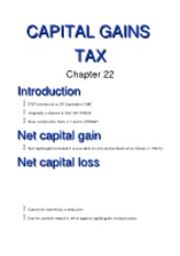 22 (Capital Gains Tax)[1]