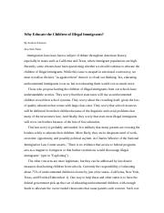 Why Educate thechildren of illegal immigrants - article with questions.doc