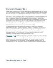 QMB Summary Chapters