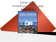 GEOG 2RW3 - 2013Fall - Lecture 08 - World Regions I - North America - student-A2L
