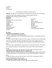 analysis of a commercial bleach lab Prelab experiment 21: analysis of a commercial bleach (v8) may 8 experiment 21: analysis of a commercial bleach (v8) may 9 post lab experiment 21: analysis of a commercial bleach.