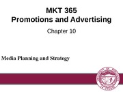 Chapter 10: Media Planning and Strategy