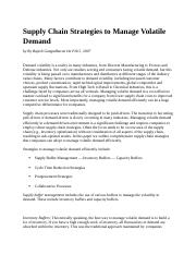 Supply Chain Strategies to Manage Volatile Demand.docx