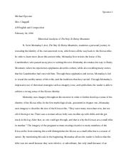 Thesis Argumentative Essay The Way To Rainy Mountain Rhetorical Analysis  Spooner  Michael Spooner  Mrs Chappell Ap English And Composition Rhetorical Analysis Of The Way To Thesis Statement For Education Essay also Essays On The Yellow Wallpaper The Way To Rainy Mountain Rhetorical Analysis  Spooner  Michael  Example Of English Essay
