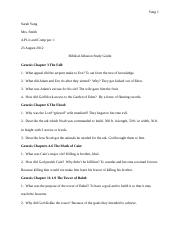 Biblical Allusion Study Guide