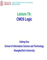 EE113 Lecture 7A-CMOS Logic