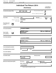 LUCY DILLINGER - Individual Tax Return 2014.pdf