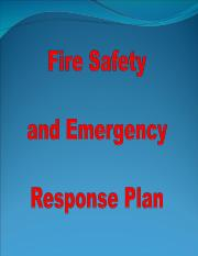 6. Fire Safety and Emergency Response Planing