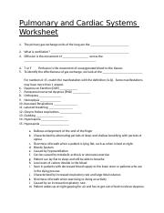 Pulmonary and Cardiac Systems Worksheet.docx