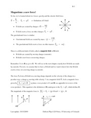 PHYS 1120 Magnetism Notes