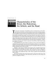 Chapter 3 Characteristics of Driver Ped Veh Road