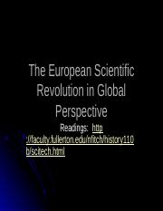 The European Scientific Revolution in Global Perspective(7)
