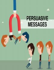 Lecture 7 Persuasive Messages