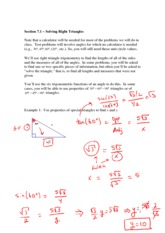 Geometry Notes Trig Worksheet Homework - Lesson 5-8 ...