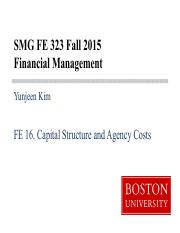 FE16 Capital Structure & Agency Costs