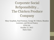 Corporate Social Responsibility Learning Team W4