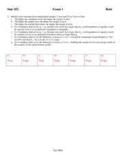 Fall 2008 Exam 1 - questions and answers