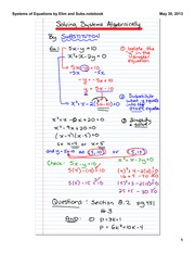 Solving Systems by Substitution and Elimination