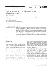 [Management and Production Engineering Review] Some Notes on Multivariate Statistical Process Contro