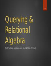 7 - Querying and Relational Algebra.pdf