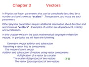 HR3 Chapter 3 Vectors