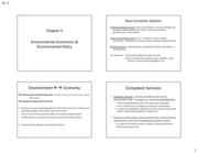 Chapter 5 - Environmental Economics & Policy