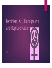 Feminism, Art, Iconography and Representation