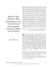 Frank_Back to the Future- The Emergence of a Geneticized Conceptualization of Race .pdf