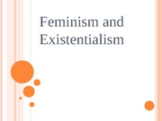 FEMINISM and Existentialism