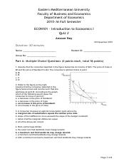 ECON101 2015-16 Fall Quiz 2 Answer Key