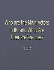 Class 4 Who are the Main Actors in International Politics (1)