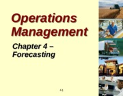 Topic 3 Forecasting