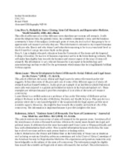 Annotated Bibliography WP4