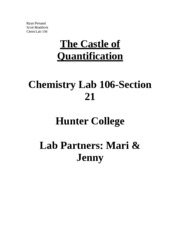 The Castle of Quantification Lab Report