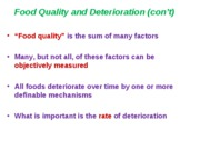 Food Quality (2)-Shelf Life