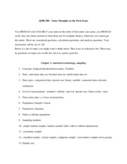 Study guide for exam 1-qmb200